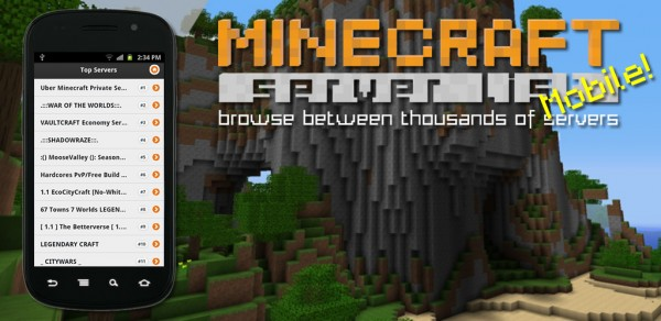 Minecraft Servers android app